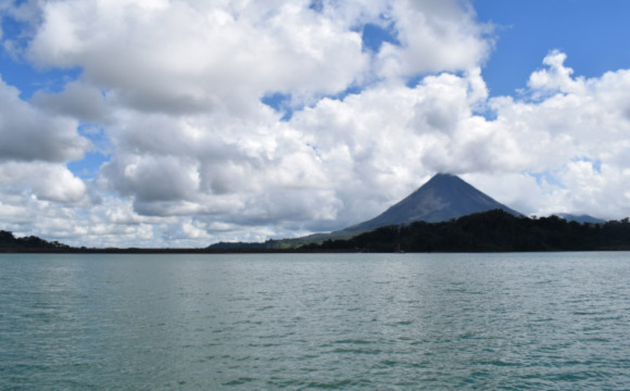 Fishing in Lake Arenal
